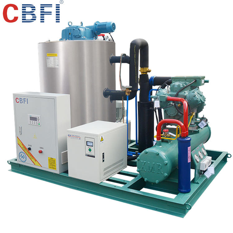 China 5 tons flake Ice Making Machines Plant for Fishing, Cooling, Lower Temperature