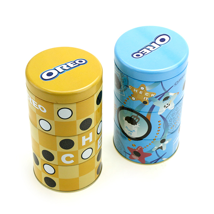 good quality cheap round custom chocolate gift tin