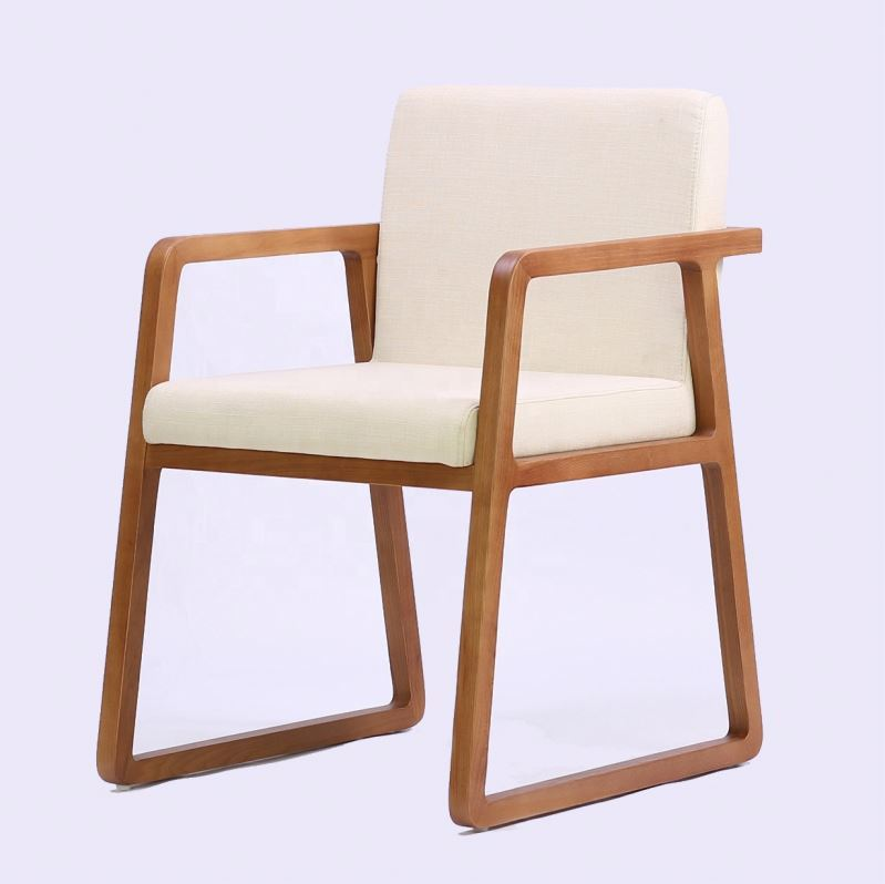 Hotel solid wood leather seat restaurant dining chair for restaurant furniture