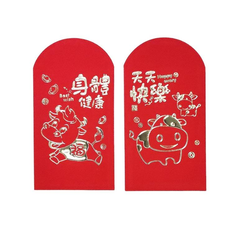 Cheap Price 2021 Special Red Envelope Thick Red Packet Adhesive Paper Roll Wallet