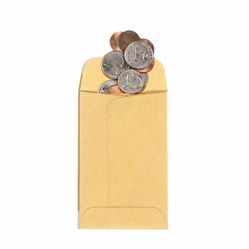 Custom Logo Mini Kraft Small Parts Coin Envelopes