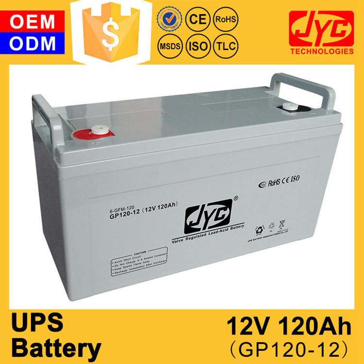 Uninterrupted power system 12v 120ah optima battery