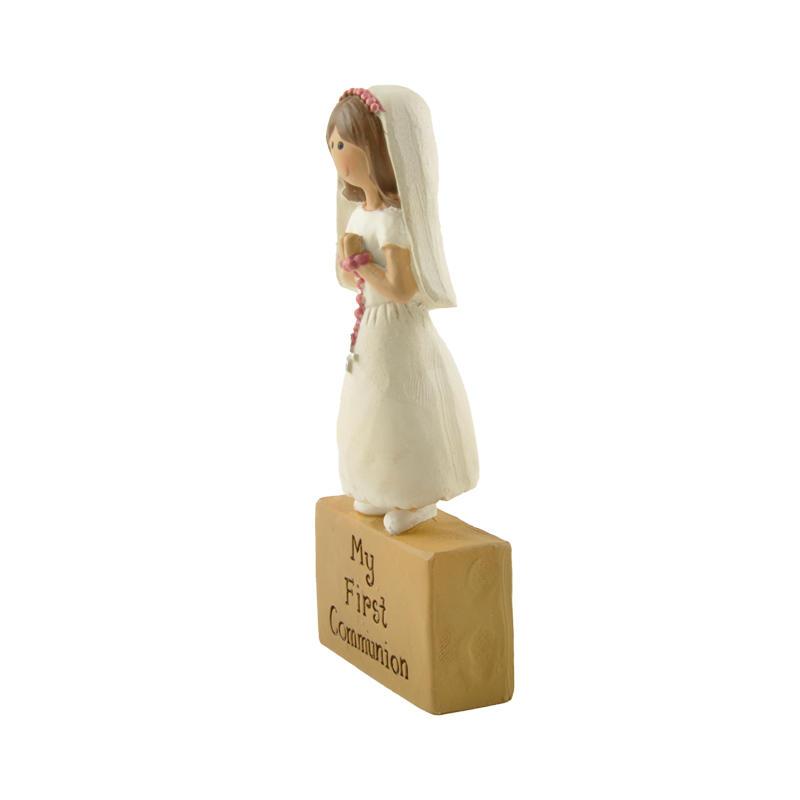 Custom Resin My First Communion Girl ON BLOCK Resin Figurine