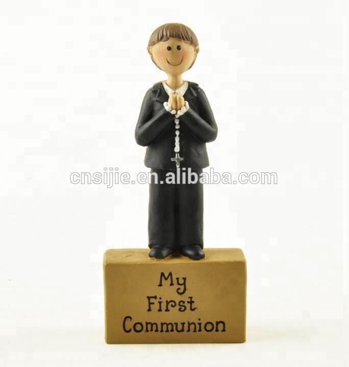 Custom resin my First Communion religious figures