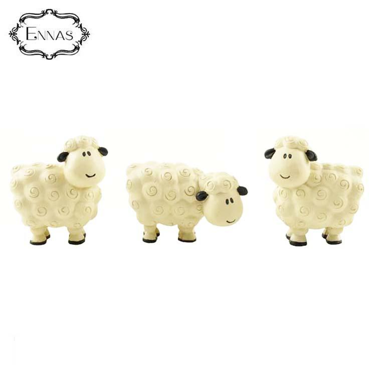Custom wholesale religious statue sheep figurine resin animal figurine