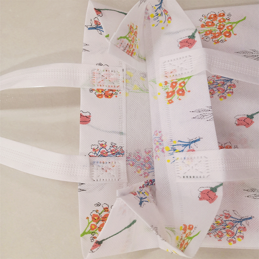 color nonwoven fabric 75gsm with printed for making shopping bags
