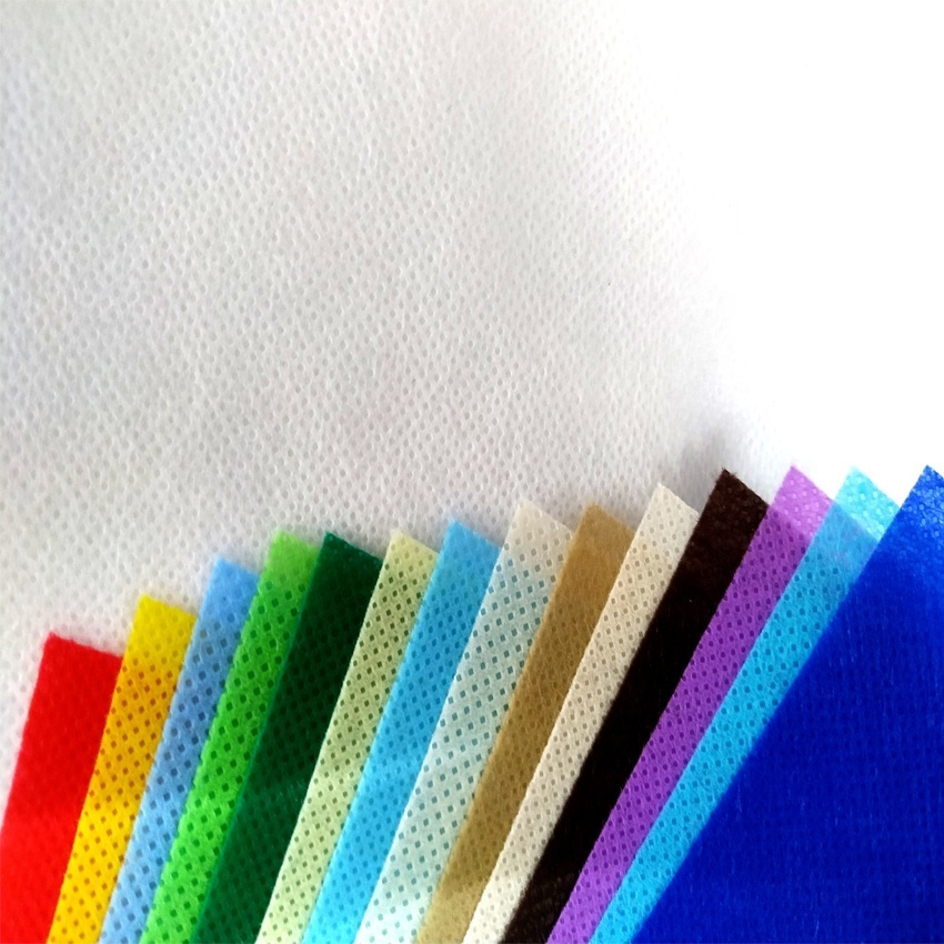 colorful nonwoven fabric pp spunbond nonwoven rolls for making shopping bag