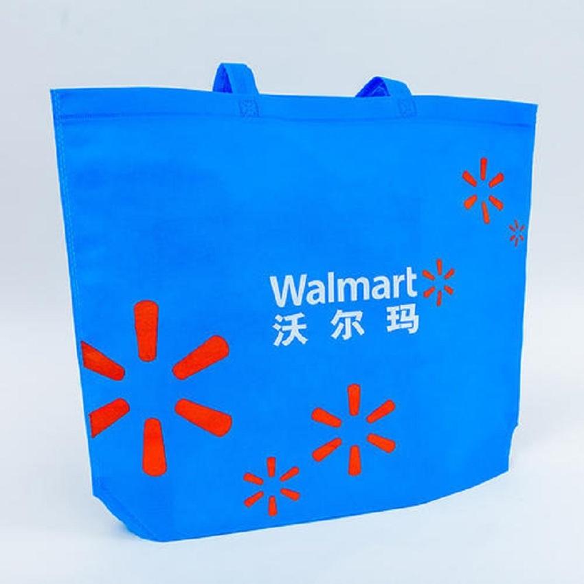 Degradable environmental protection PP non-woven vest bag for supermarket