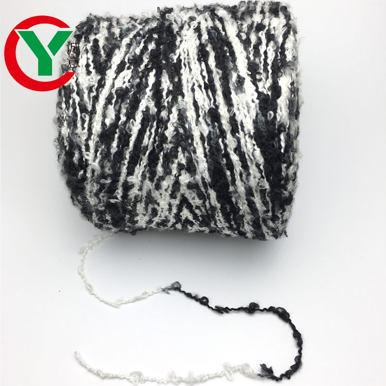 1/2.4 Nm polyester loop yarn/ fancysweater knitting yarn for machine