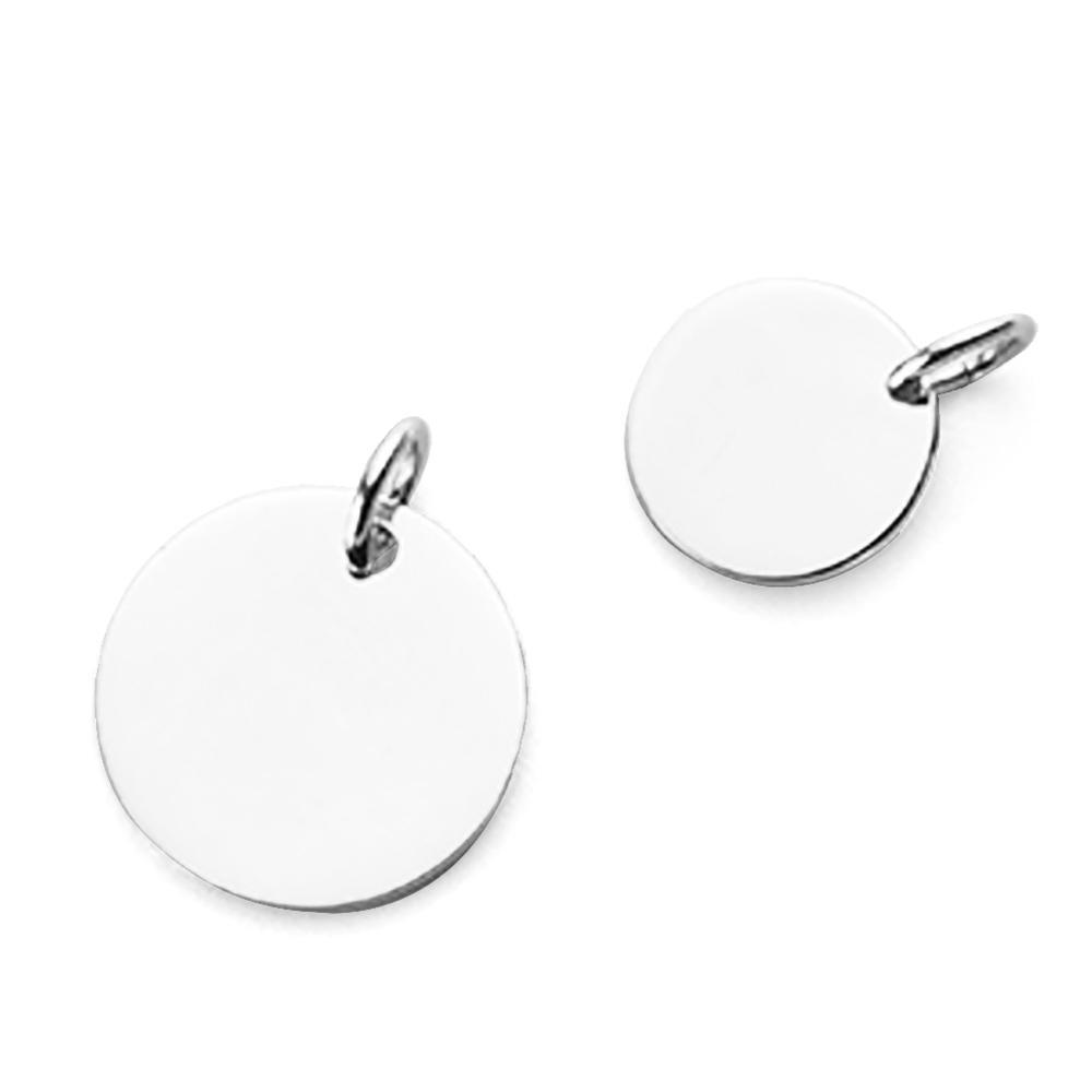 Temperament Female Fashion Simple Smooth Round Piece 925 Silver Minimalism Pendant
