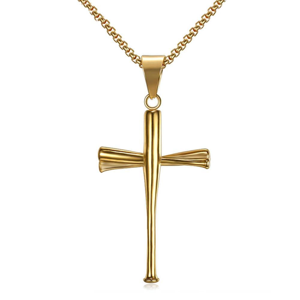 Black Pendant Cross Mens, Baseball Cross Pendant Stainless Steel