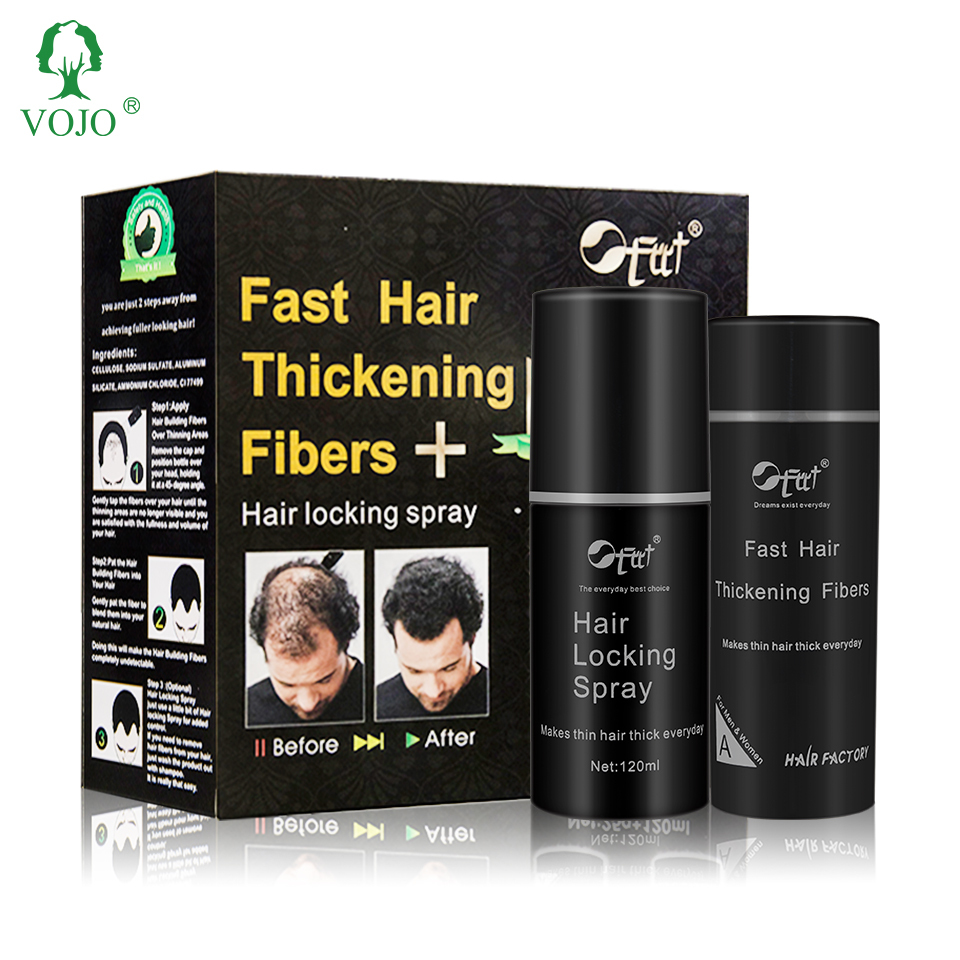 FCCT HAIR FIBERS for Thinning Hair (NATURE BLACAK) - Instantly Thickens Thinning or Balding Hair for Men & Women - 0.87oz/25g Bo