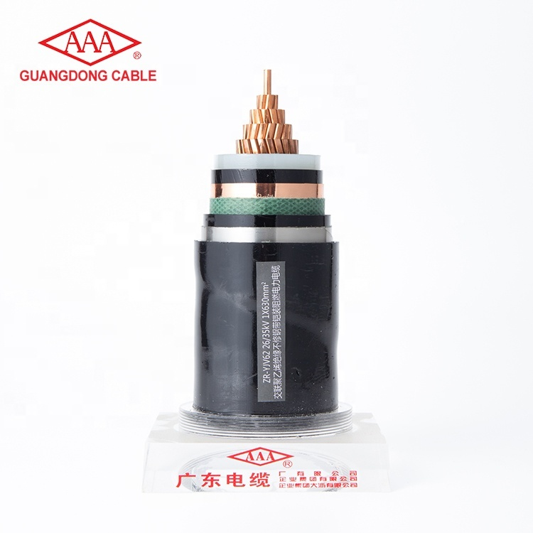 1 Core 630mm2 Flame Resistant XLPE Insulated Non-magnetic ArmouredPower Cable