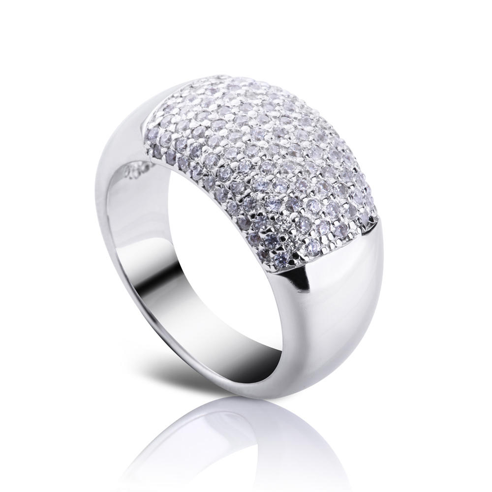 2019 Latest Design Wedding Band Ring Jewel Aaa Nano Zircon Micro Paved White Gold