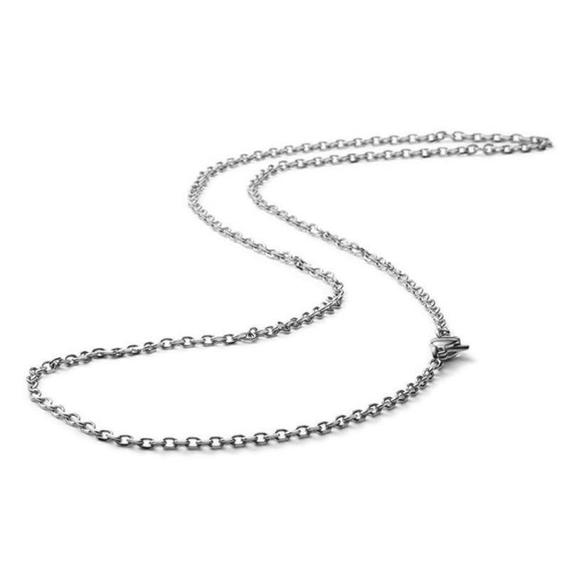 High Quality Shiny Plain Brushed Silver Chain