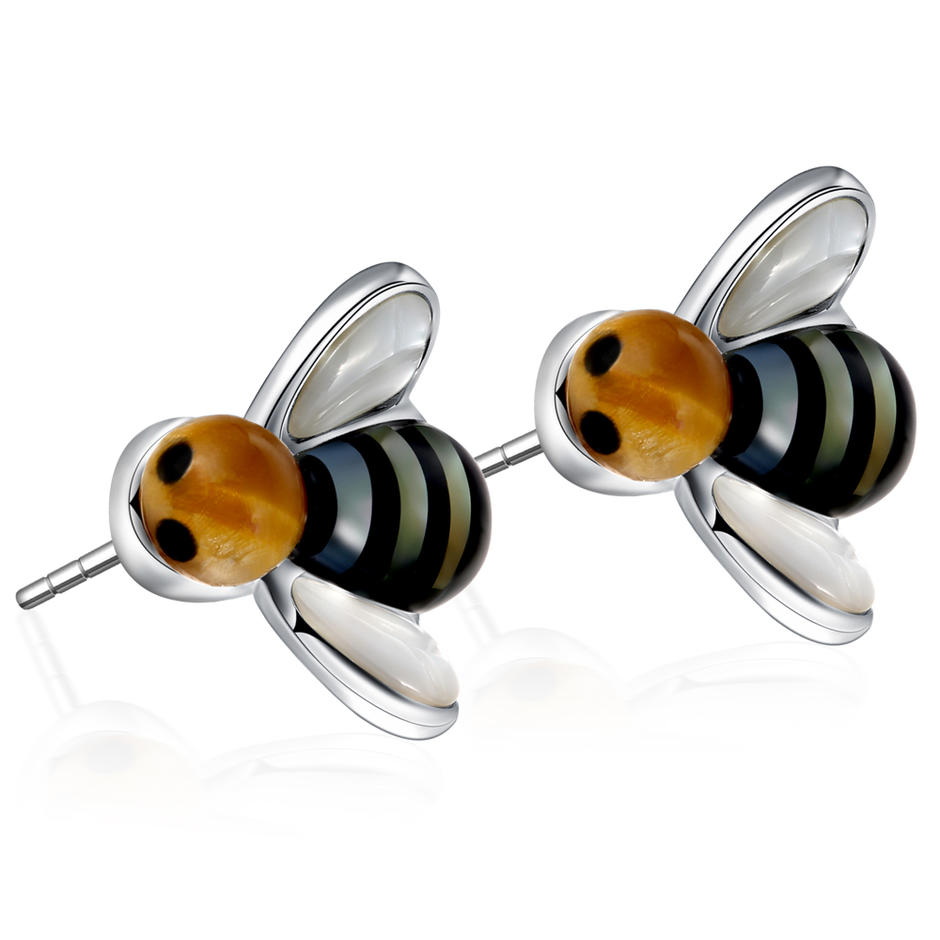 High Quality Tortoise Shell Earring, Fashion Little Bee Stud Earring