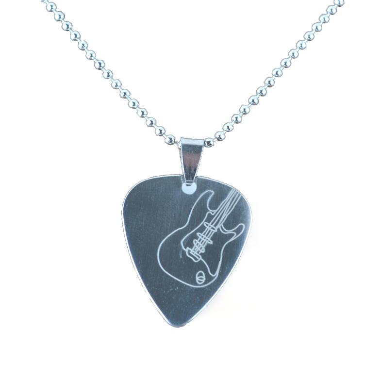 Personality Leisure Design Guitar Pick Pendant Necklace