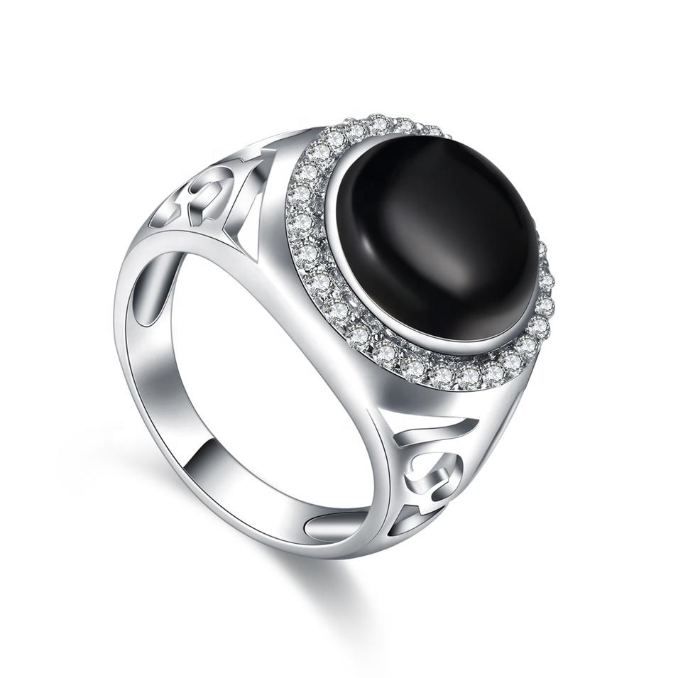 Manufacturer Jewelry Ring Natural Gemstones, Pave Diamond Gemstone Carving Rings Jewelry