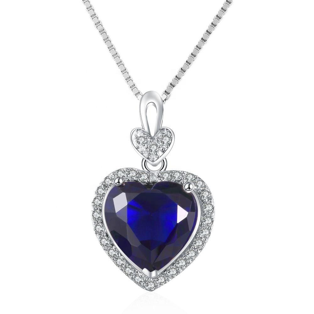 Romantic Silver Infinity Love Heart Crystals Birthstone Necklace