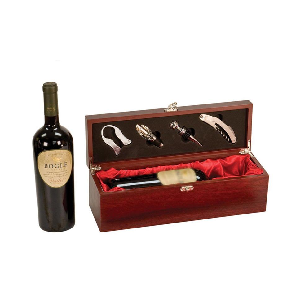 Hot sale Custom single wine bottle wooden wine gift box