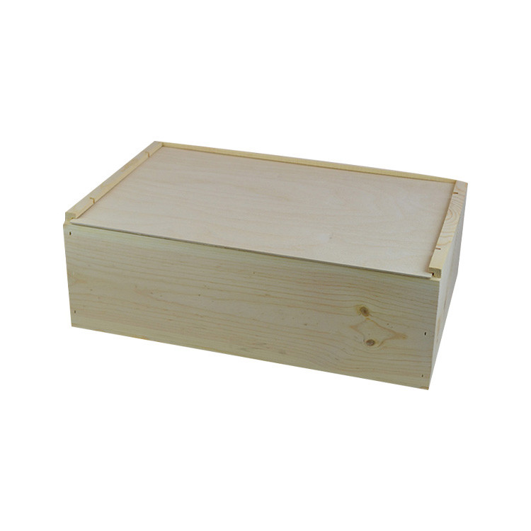 Hot sale luxury 12 bottle pine wooden wine boxes