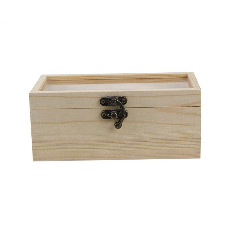 Widely used simple empty wooden gift boxes with custom logo