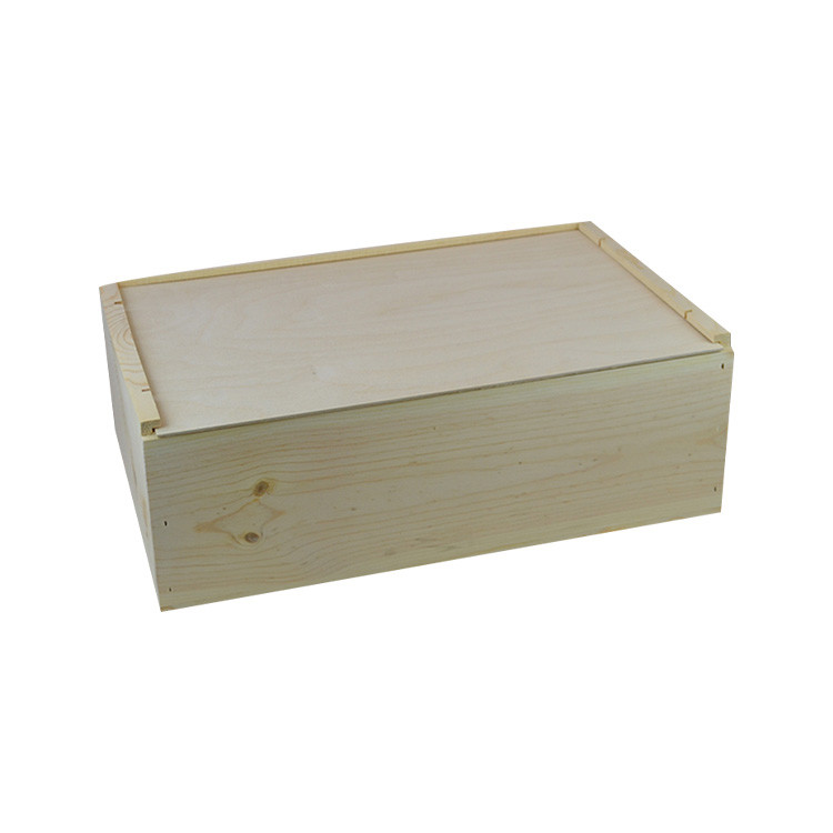 Hot sale unfinished Custom gift 12 bottle wooden wine box