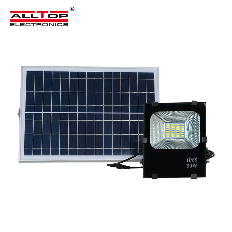 ALLTOP Exterior battery backup lamp 24vdc 50w 100w 200w emergency smd led solar flood light