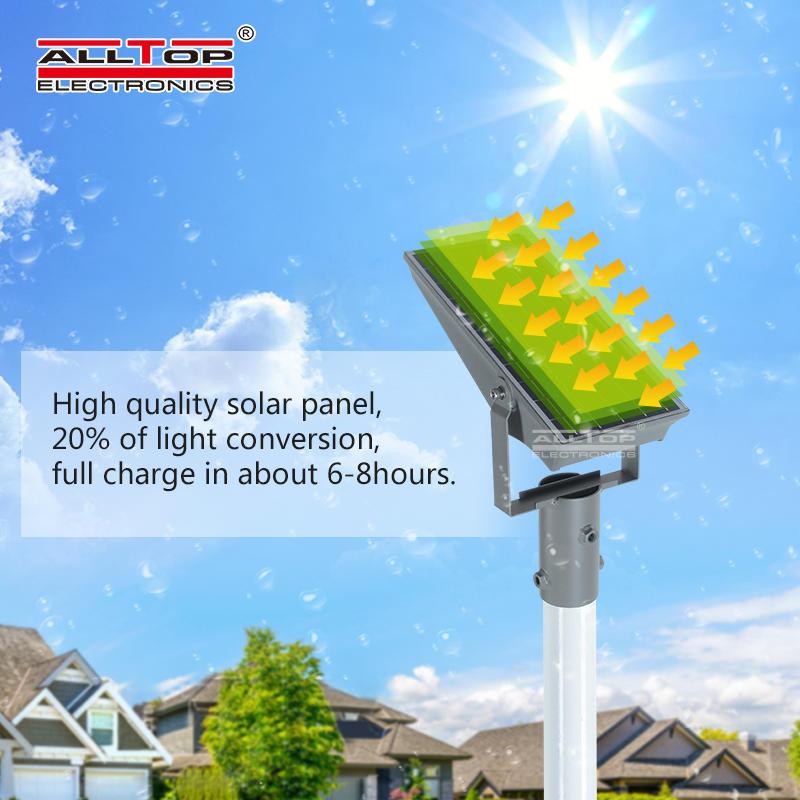 ALLTOP IP65 waterproof outdoor lighting Brideglux smd 8w 12w solar led floodlight