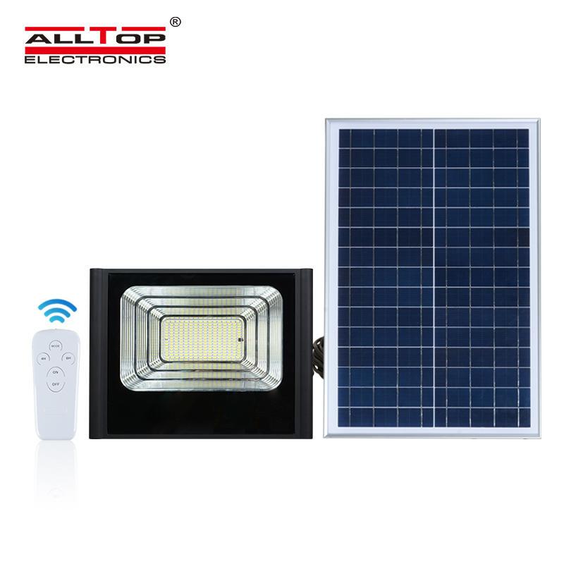 ALLTOP High quality die casting aluminum high efficiency brightest ip67 waterproof 50 100 150 200 w solar led flood light