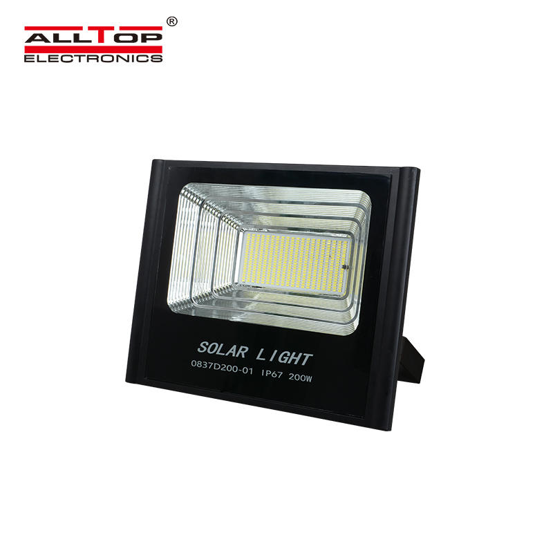 ALLTOP PC reflector IP67 building site outdoor lighting ip65 SMD 50 100 150 200 watt Solar LED Flood light