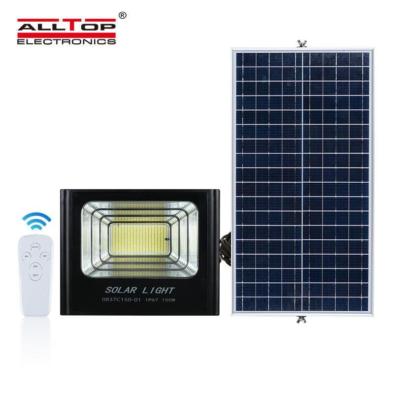 ALLTOP High lumen waterproof ip67 smd 50W 100W 150W 200W solar led outdoor floodlight