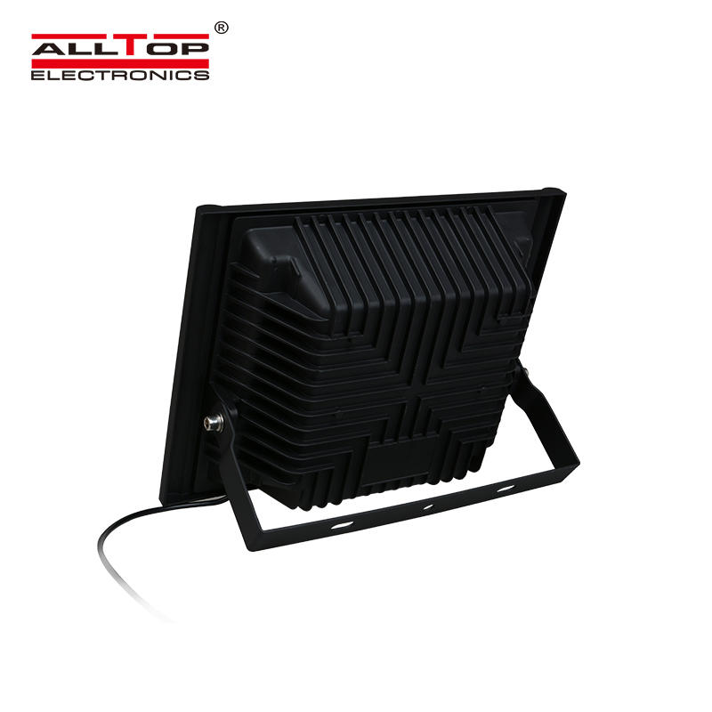 ALLTOP High power stadium lighting square ip65 outdoor waterproof 50w 100w 150w 200w solar led flood light