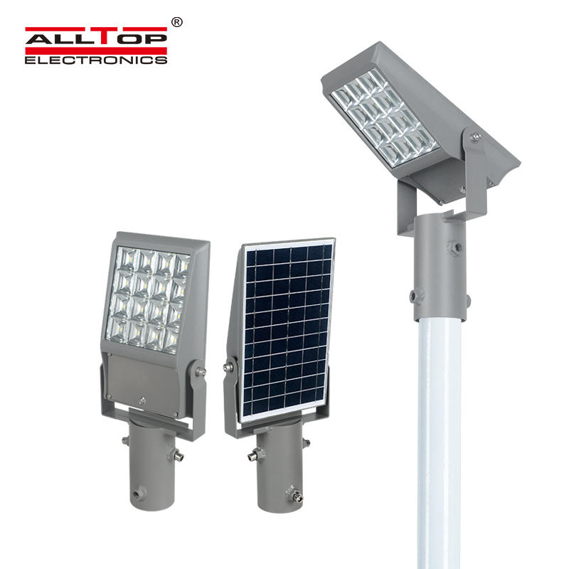 ALLTOP High quality waterproof outdoor 8w 12w integrated led solar floodlight
