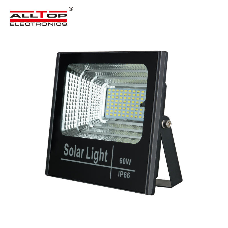 ALLTOP Best quality IP66 waterproof outdoor Aluminum 25w 40w 60w 100w led solar flood light