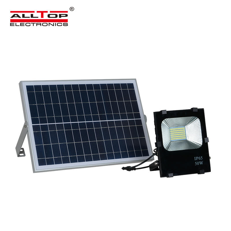 ALLTOP High quality aluminum bridgelux waterproof outdoor 10w 20w 30w 50w 100w solar led flood light