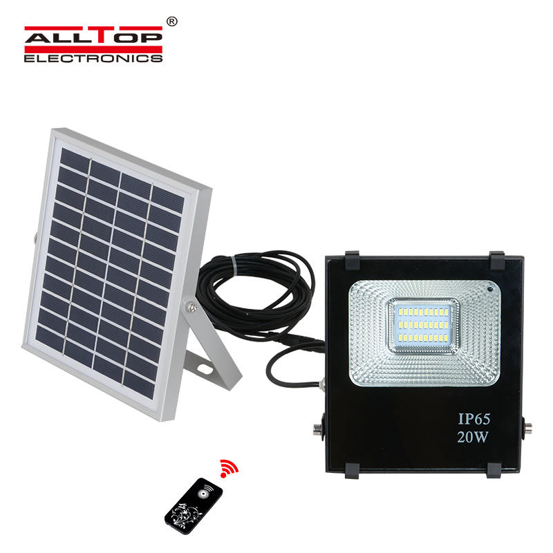 Low profit portable die cast aluminum solar led flood light 20w