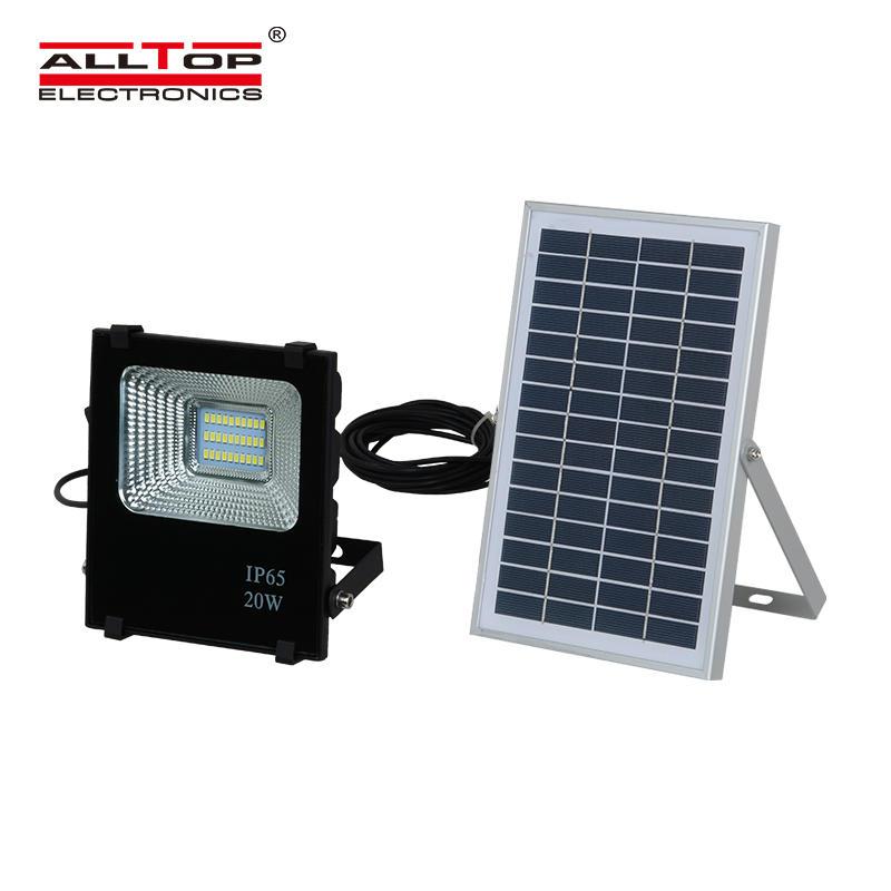 ALLTOP High power ip65 outdoor 10w 20w 30w 50w 100w waterproof battery billboard solar led flood light price