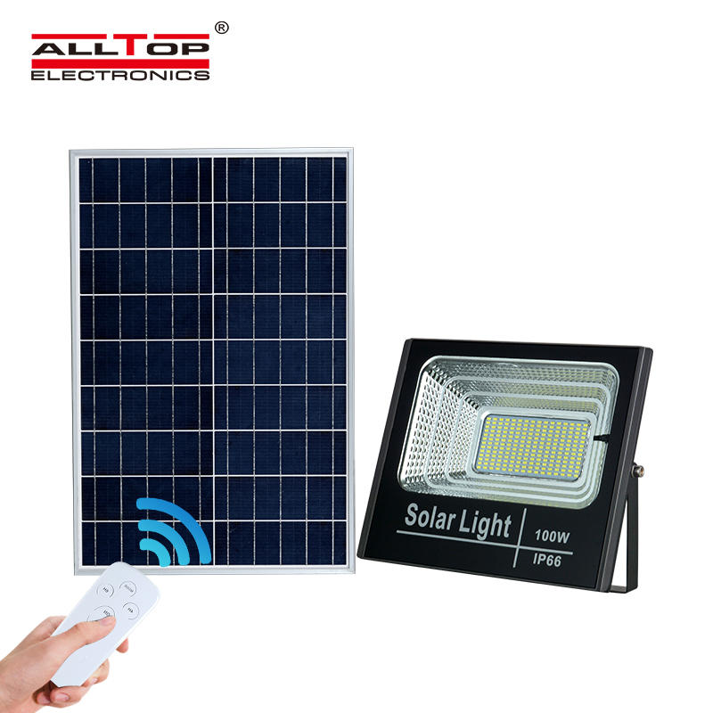 ALLTOP Hot selling High power ip65 waterproof outdoor lighting industrial 25w 40w 60w 100w led solar flood light