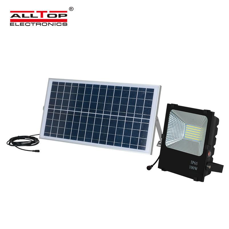 ALLTOP High lumen Bridgelux smd IP65 Waterproof Outdoor 10 20 30 50 100 watt solar led floodlight
