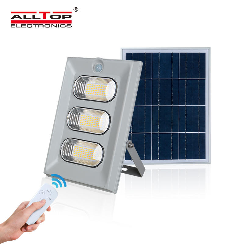 ALLTOP Hot selling super bright remote control ip66 waterproof outdoor SMD 50w 100w 150w solar led floodlight