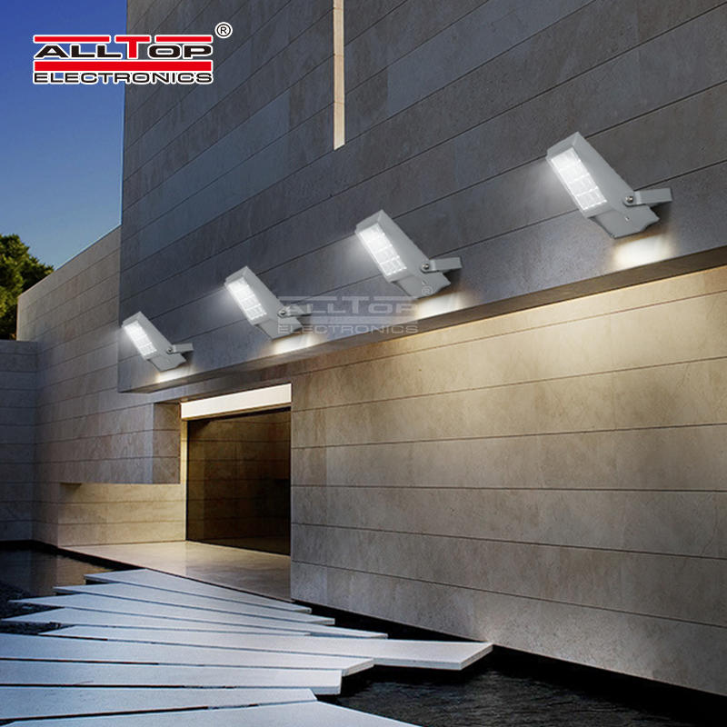 ALLTOP High lumen Bridgelux smd IP65 Waterproof Outdoor 8watt 12watt solar led floodlight