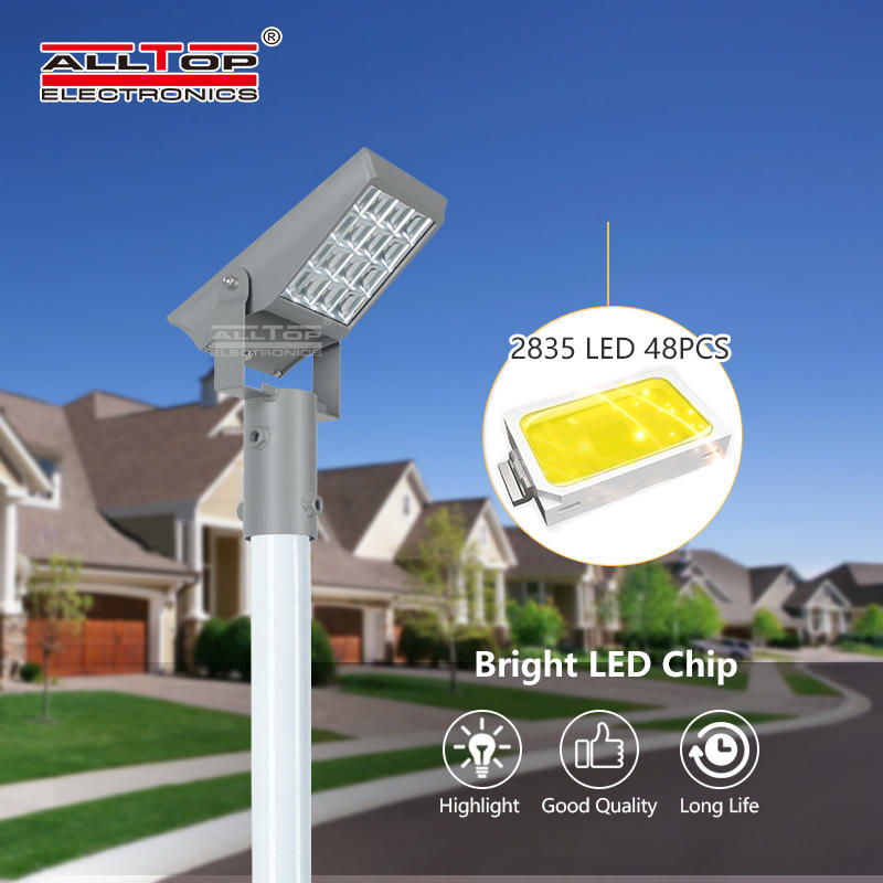 ALLTOP High lumen bridgelux smd outdoor waterproof ip65 8w 12w solar led flood light