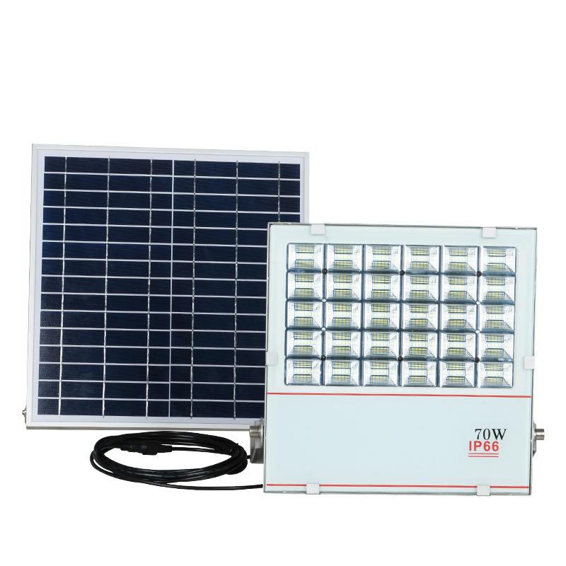 Low profit portable die cast aluminum solar led flood light 70w