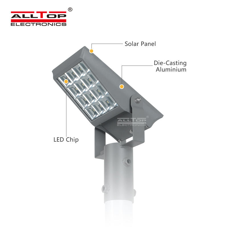ALLTOP High power IP65 outdoor waterproof SMD bridgelux 8watt 12watt solar led flood lights