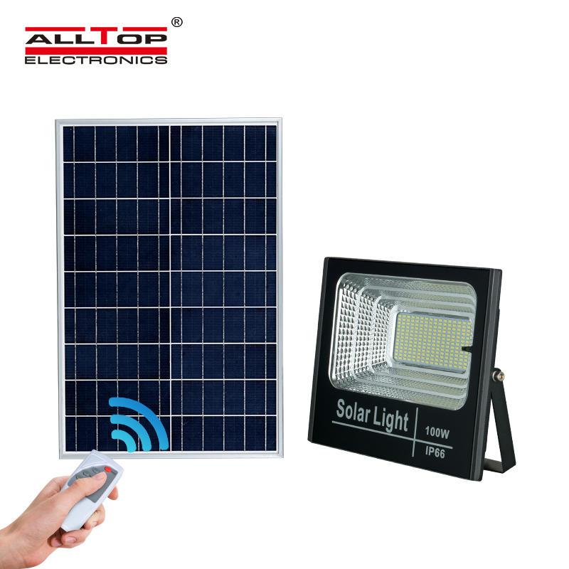 ALLTOP Hot sale waterproof outdoor lighting bridgelux ip66 smd 25w 40w 60w 100w solar led flood light price