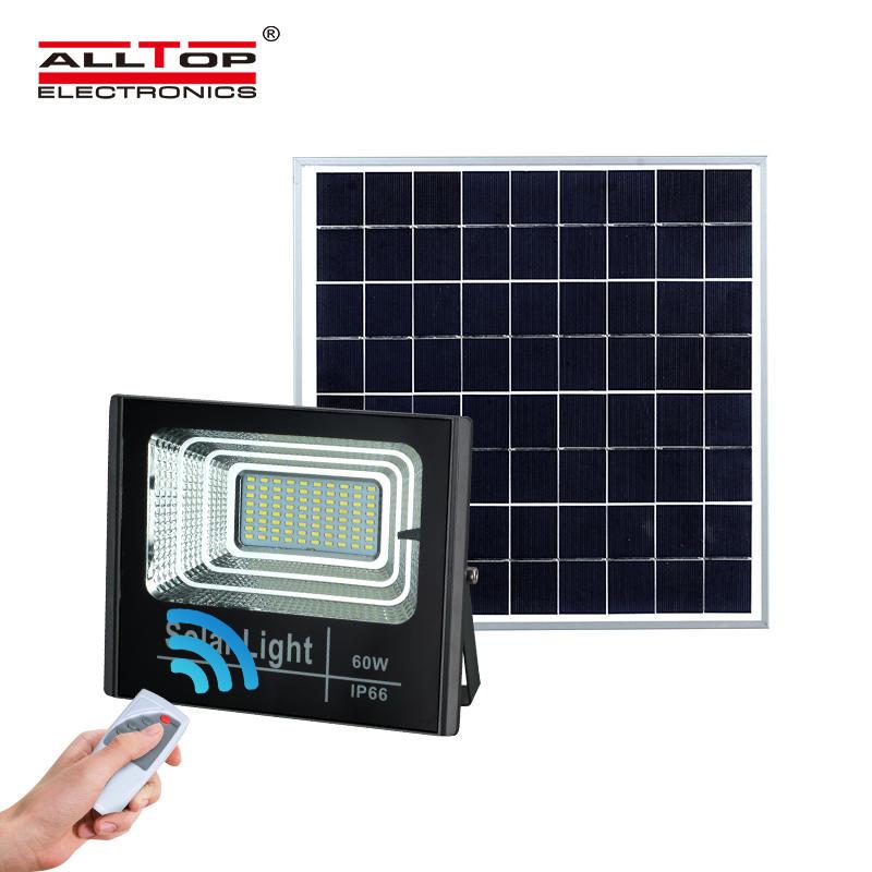 ALLTOP High lumen outdoor waterproof die casting aluminium housing smd ip66 25w 40w 60w 100w solar led flood light