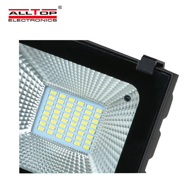 High quality dimmable automatically on outdoor waterproof ip65 10 20 30 50 100 w solar sensor led floodlight