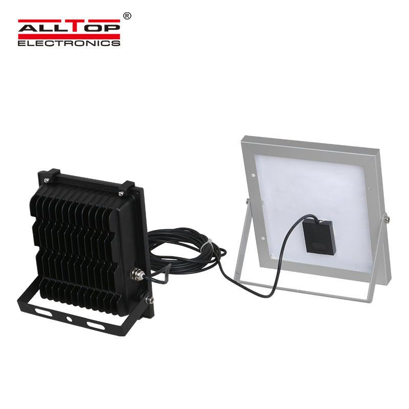 High brightness aluminum 10 20 30 50 100 watt ip65 outdoor waterproof led solar flood lamp