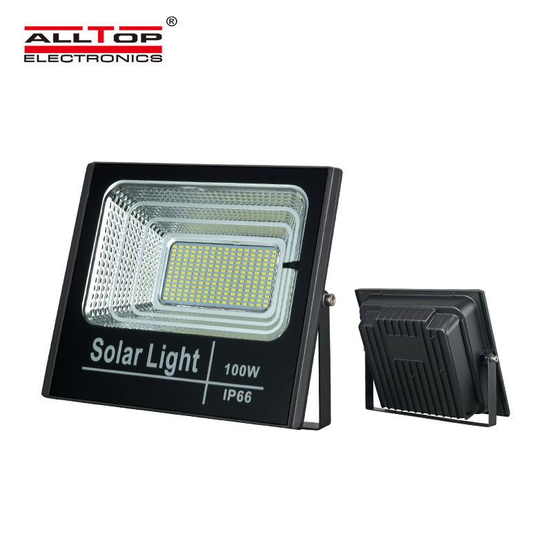 ALLTOP Hot selling High power ip65 waterproof outdoor lighting industrial 25w 40w 60w 100w led solar flood light